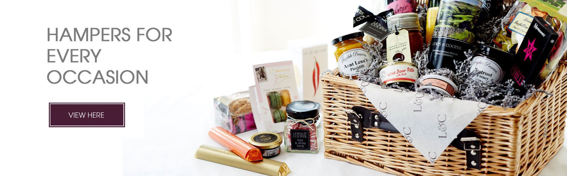 Luxury Hampers from Lewis & Cooper