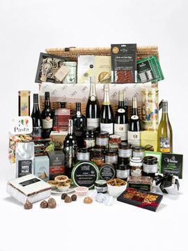 Connoisseur's Food Hamper in Willow Basket