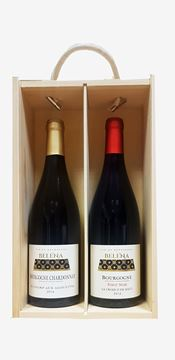 Picture of Lewis & Cooper Red and White Burgundy Wooden Gift Box